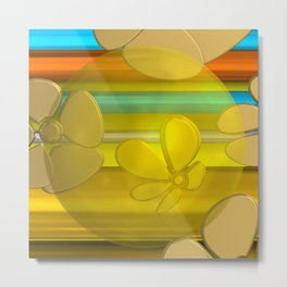 YELLOW FLOWER IN POMP Metal Print