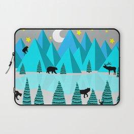 Abstract mountain scene Laptop Sleeve