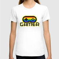 gamer T-shirts featuring Rainbow Gamer by UMe Images