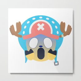 Tony Chopper Emoji Design Metal Print