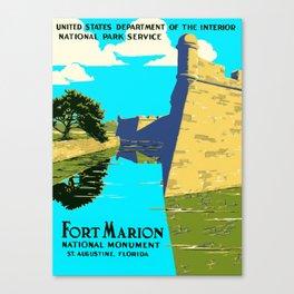 Historic Fort Marion - Castillo de San Marcos - St. Augustine Florida Canvas Print