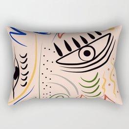Angry mask Rectangular Pillow