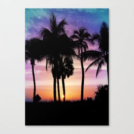 Hot Summer Nights In Palms Canvas Print