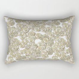 Old British Pound Coins Repeating Pattern Rectangular Pillow