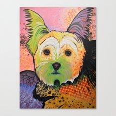 Daisy...Abstract dog art, Yorkshire Terrier Canvas Print
