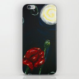 Notturno su papaveri iPhone Skin