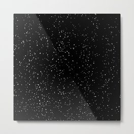 Black and White Speckled Pattern Metal Print