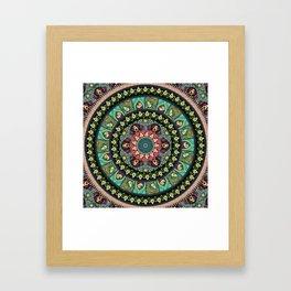 Avocado Yoga Medallion Framed Art Print