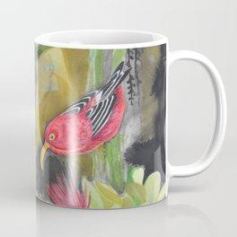'Iwi'i and Maui 'Alauhio in Red Ohia Lehua Tree Coffee Mug