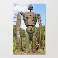 laputa Canvas Prints featuring Laputan Robot - 2 by JCM Art