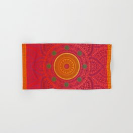 """Fuchsia and Gold Mandala"" Hand & Bath Towel"