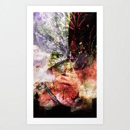 Giant Cameleon Art Print
