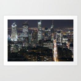 Montréal by Night Art Print