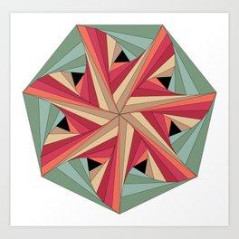 Geometric Mandala / Nothing happens by chance Art Print