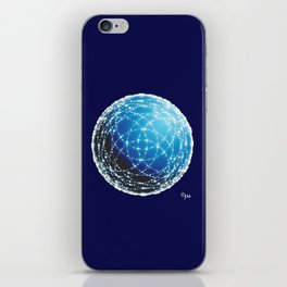 The Blue Orb iPhone Skin
