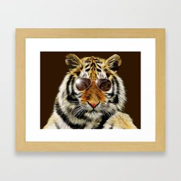 In the Eye of the Tiger Framed Art Print