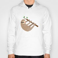 sloths Hoodies featuring Happy Little Sloths by ponychops
