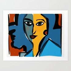 Staring at Matisse Art Print