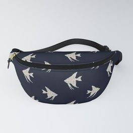 Navy blue maritime sea fish pattern Fanny Pack