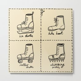 Sport shoes doodles Metal Print