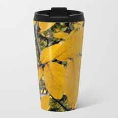 Yellow Leaves of Autumn Metal Travel Mug
