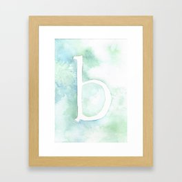 b watercolor Framed Art Print