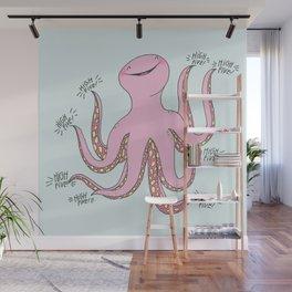 High-Five-topus! Wall Mural