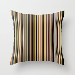 Old Skool Stripes - The Dark Side Throw Pillow