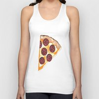 pizza Tank Tops featuring Pizza by Sartoris ART