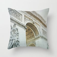 Letters From Triomphe - Paris Throw Pillow