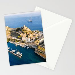 The old Fortress of Corfu Kerkira Stationery Cards