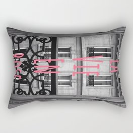 Parisienne Balcony View Rectangular Pillow