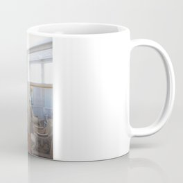 Through a glass Coffee Mug