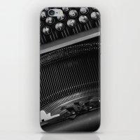 typewriter iPhone & iPod Skins featuring Typewriter by Falko Follert Art-FF77