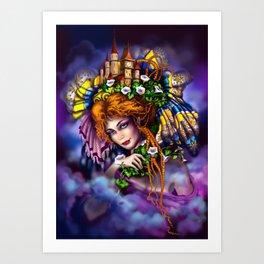 Fairy love and magic Art Print