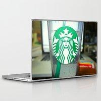 starbucks Laptop & iPad Skins featuring STARBUCKS by Marco ☁ Gasperi