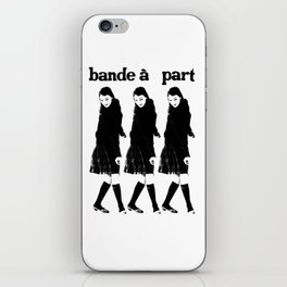 BAND A PART - ANNA KARINA / JEAN LUC GODARD- NOUVELLE VAGUE iPhone Skin