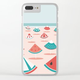 Fruit Beach Clear iPhone Case