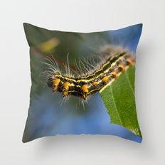 Yellownecked Caterpillar  Throw Pillow