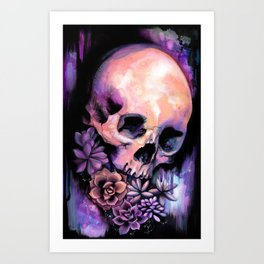 Succulent Skull Art Print