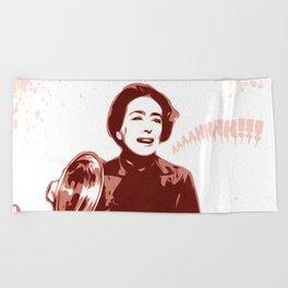 Joan Crawford - Aaaahhhh!!! - Pop Art Beach Towel