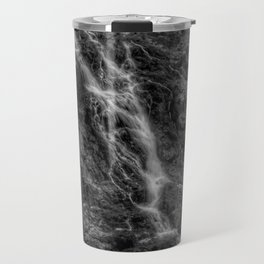 Waterfalls - Black And White Fine Art At Barron Gorge National Park Travel Mug