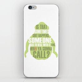 Who ya gonna call? Ghostbusters Tribute iPhone Skin