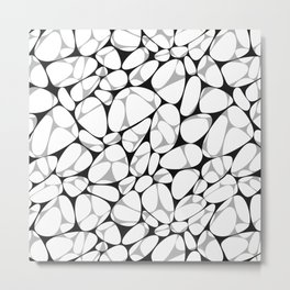 Pebble mix seamless pattern Metal Print