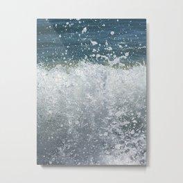 Wave Splash Metal Print