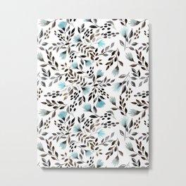 Cornflowers Pattern Metal Print