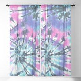 Blue Tie Dye Sheer Curtain