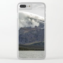 Clouds Over Mt Gould Clear iPhone Case