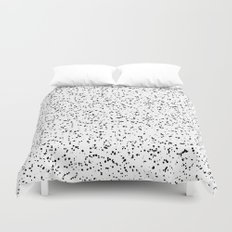 Speckles I: Double Black on White Duvet Cover