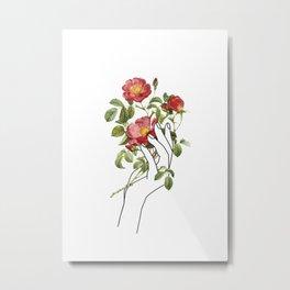 Flower in the Hand II Metal Print